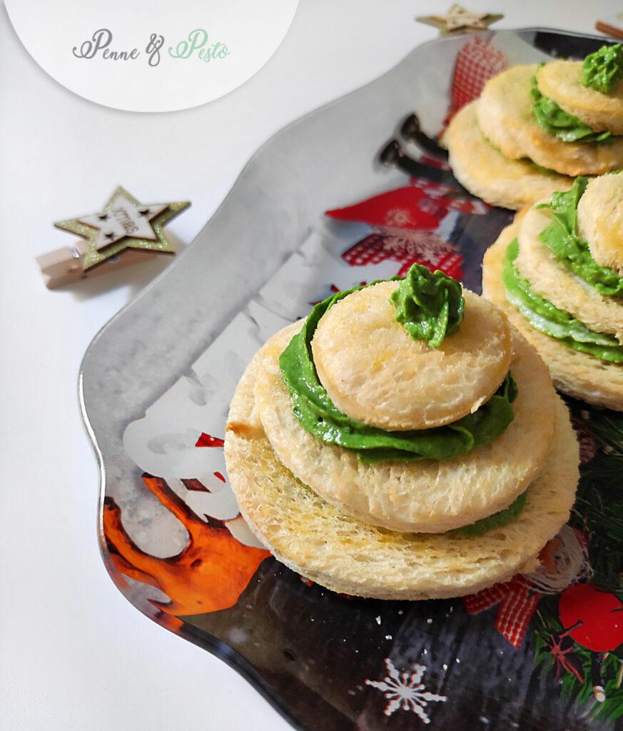 Alberelli con crema di spinaci e caprino