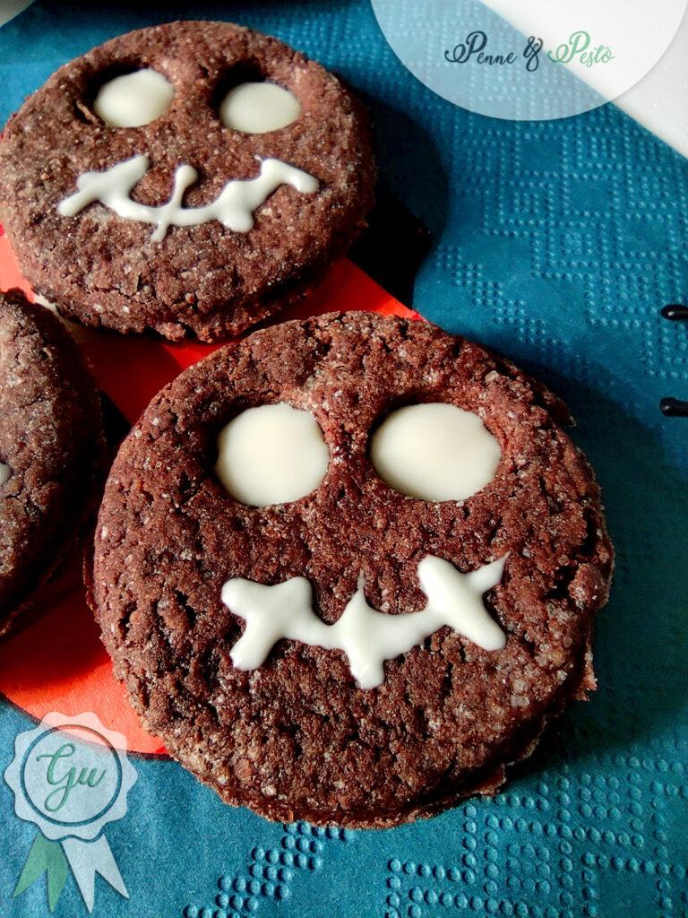 Biscotti teschio di Halloween