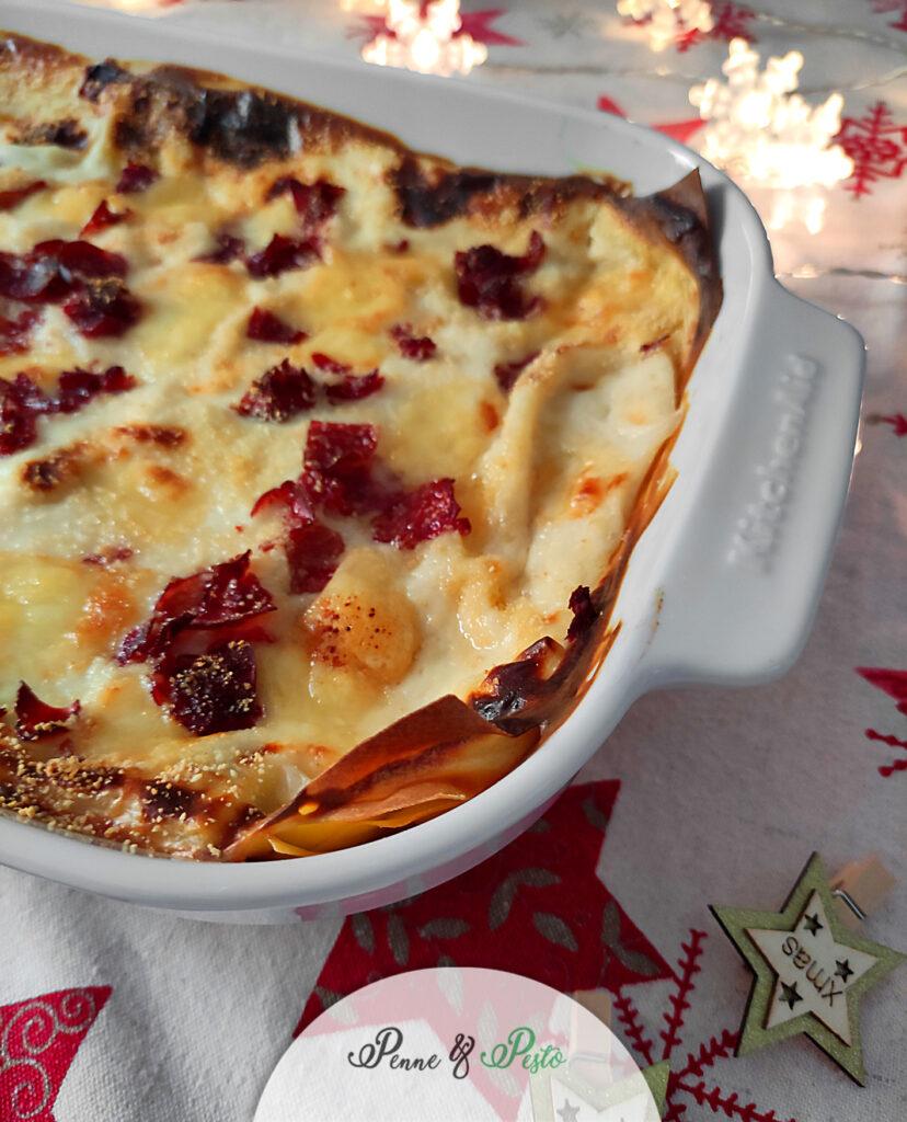 Lasagne con bresaola e fontina