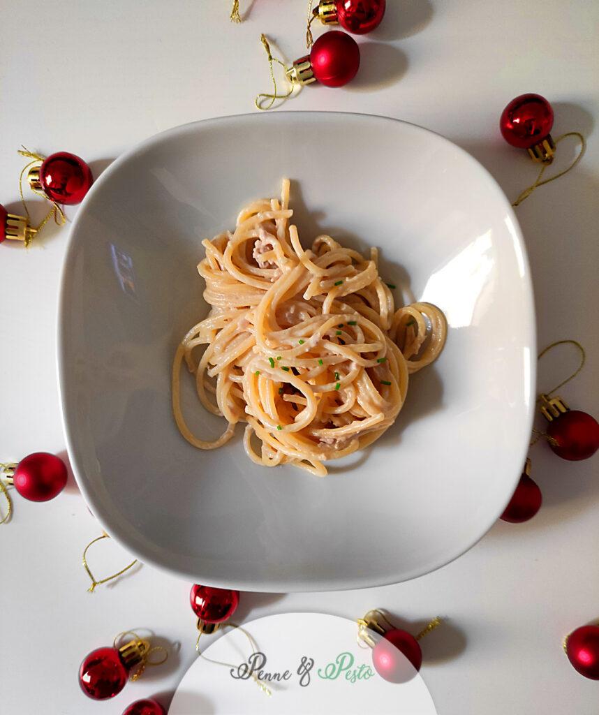 Spaghetti con alici e tonno