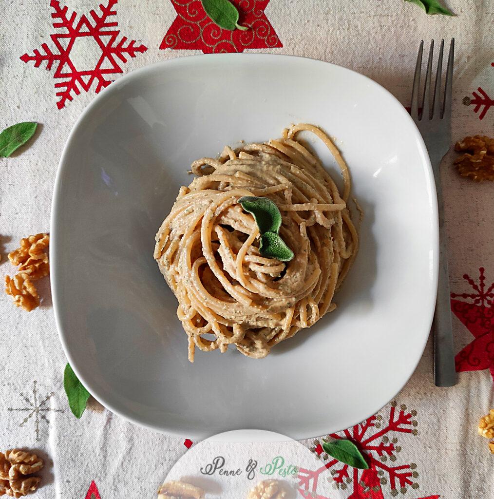 Spaghetti con salsa alle noci