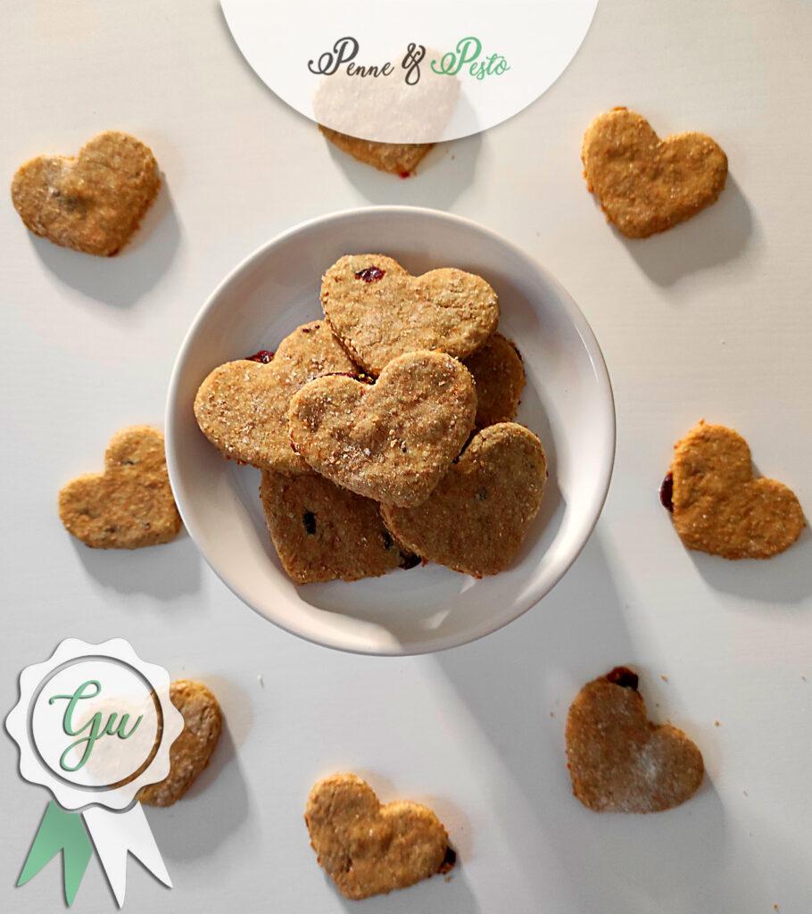 Biscotti integrali ai mirtilli  rossi