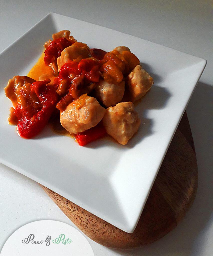 Bocconcini di pollo ai peperoni