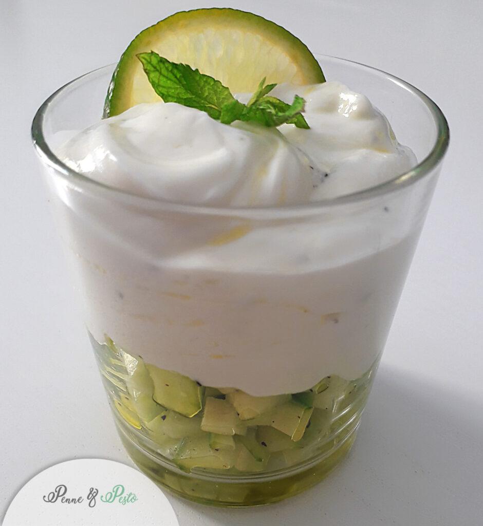 Cetrioli con menta e yogurt