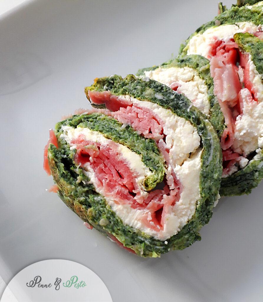 Frittata arrotolata agli spinaci