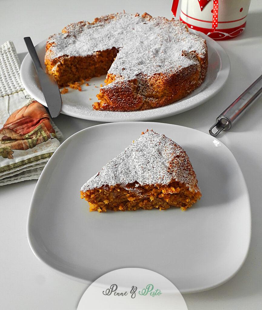 Torta soffice di carote e mandorle