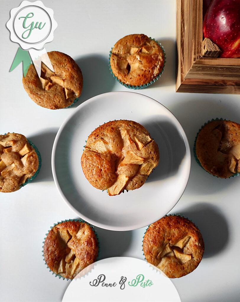 Muffin integrali di mele e yogurt