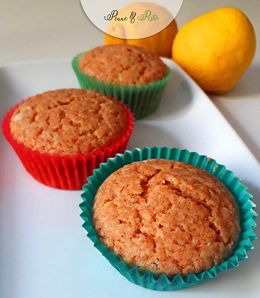 Muffin integrali al limone