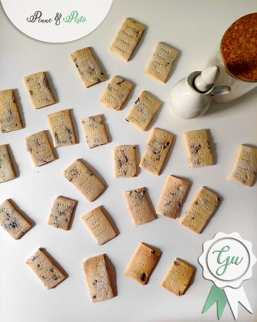 Crackers di riso alle olive