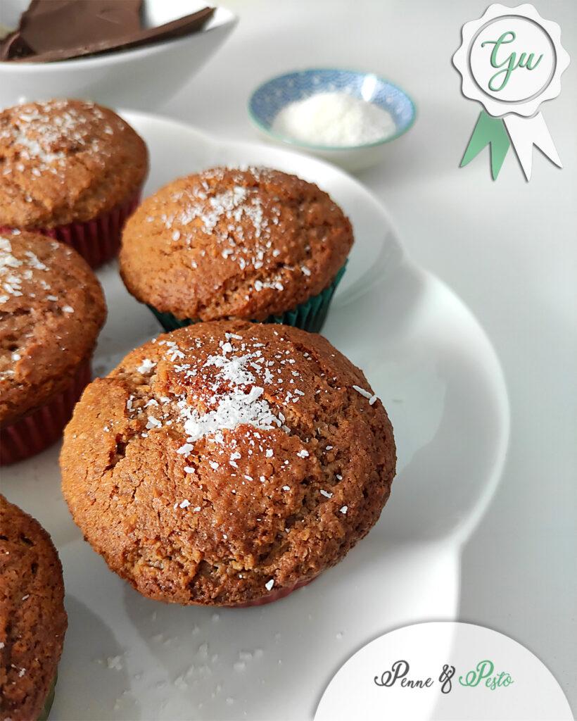 Muffin cocco e cioccolato al latte