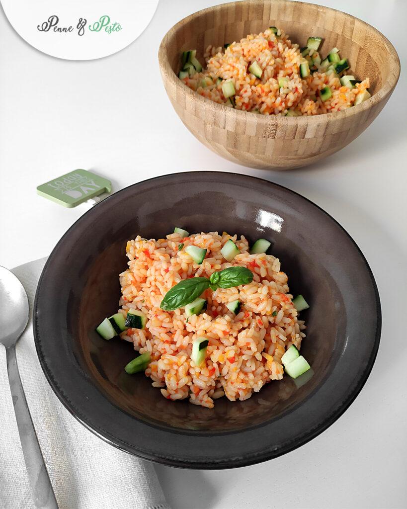 Insalata di riso con crema di peperoni